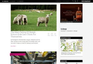 screenshot of fastco.design page