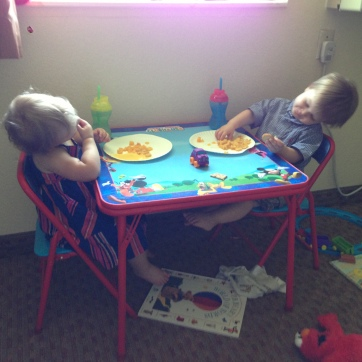 Many lunches in the motel