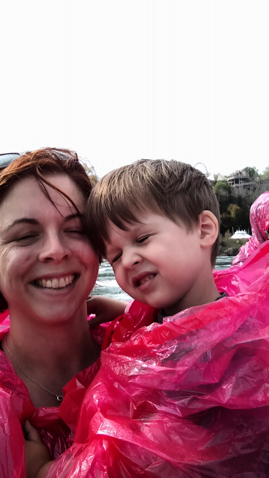 He did not like the waterfall parts of the boat ride.