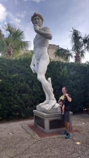 A replica of the Statue of David at Ripley's