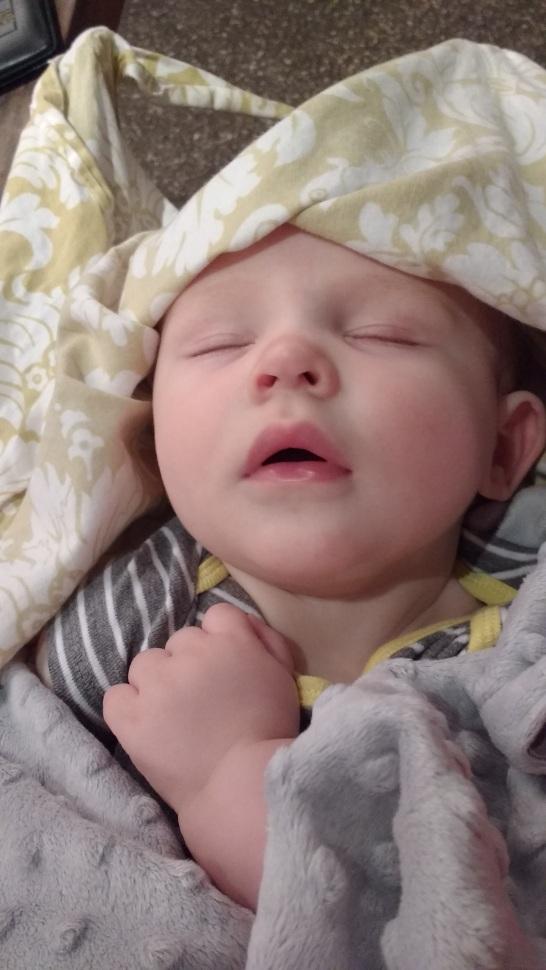 Grant sound asleep after nursing.