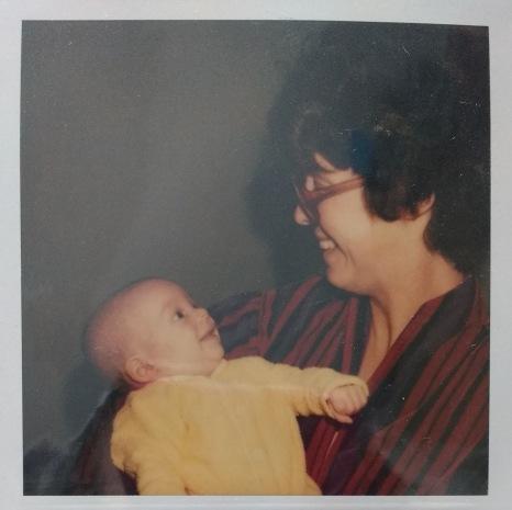Me and mom.