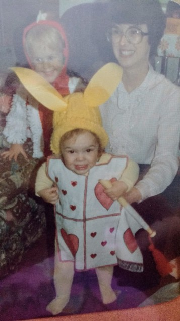 She used to make all our halloween costumes somehow.