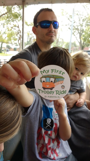 Henry showing off his trolley sticker