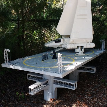 The Star Wars section of miniland had a scene built for each of the first 6 episodes.