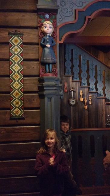 Waiting in line to see Anna and Elsa